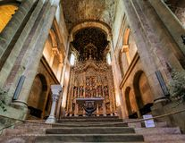 The Old Cathedral of Coimbra Royalty Free Stock Photography