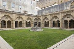 The Old Cathedral of Coimbra, Se Velha de Coimbra. royalty free stock photo