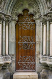 Old cathedral door, Nidaros, Trondheim, Norway. Stock Image