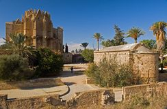 Old cathedral in famagusta,northern cyprus. The back view of an old ruined cathedral in famagusta in the turkish occupied area of northern cyprus Stock Images
