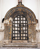 Old cathedral gate. In Kremlin Moscow Russia Royalty Free Stock Photo