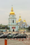 Old cathedral with golden domes Royalty Free Stock Photography