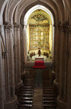 The old cathedral, interior view, Salamanca Stock Photo