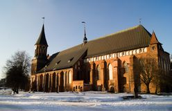 Old cathedral in Kaliningrad Royalty Free Stock Photos