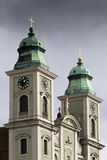 Old Cathedral in Linz Stock Photos