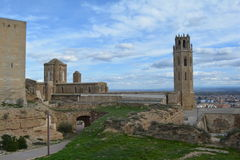 Old Cathedral of Lleida, Spain. Cathedral of St. Mary of La Seu Vella, taken in March 2017 Royalty Free Stock Photos