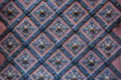 Old cathedral metal door in detail Royalty Free Stock Images
