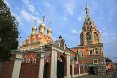 Old Cathedral in Moscow, Russia. Royalty Free Stock Photo