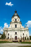 Old cathedral in Mykulynci vilage. Ukraine, Ternopil. Was build at 1779. Old barocco style royalty free stock photography