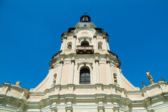 Old cathedral in Mykulynci vilage. Ukraine, Ternopil. Was build at 1779. Old barocco style royalty free stock images