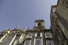 Old Cathedral of Oporto. Oporto Old Cathedral, detail of a facade of a church in Portugal Royalty Free Stock Image