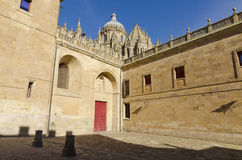 Old Cathedral. Salamanca. The Old Cathedral of St. Mary, is one of two cathedrals in Salamanca there. Founded by Bishop Jerome of Perigord, was begun in the Stock Images