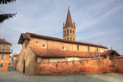Old cathedral in Saluzzo, Italy. Stock Photo