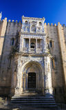 Old Cathedral or Se Velha of Coimbra, Portugal Stock Photos