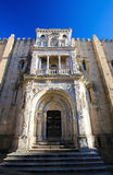 Old Cathedral or Se Velha of Coimbra, Portugal Royalty Free Stock Images