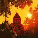 Old cathedral at sunset Royalty Free Stock Photography