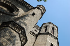 An old cathedral in Tianjin. Wanghailou Church, or Shengmu desheng tang (Notre Dame des Victoires), is a tall cathedral, located on the northern bank of the Royalty Free Stock Photography