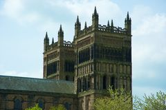 Old cathedral towers Stock Photography