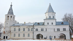 Old cathedral in the Veliky Novgorod Stock Images
