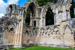 Old cathedral wall in city of York Royalty Free Stock Photography