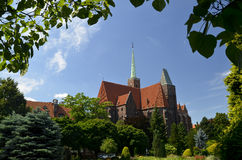 Old cathedral in Wroclaw, Ostrow Tumski Stock Image