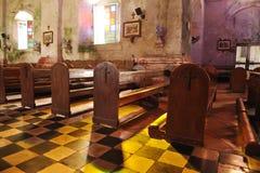 Old catholic church. Inside of a very old catholic church Royalty Free Stock Photo