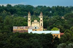 Old catholic church of the Ascension in Vilnius, Lithuania Stock Image