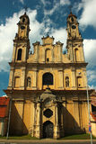 Old catholic church of the Ascension in Vilnius, Lithuania Royalty Free Stock Images