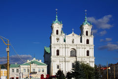 Old Catholic church in the Baroque style in Grodno, Belarus. Royalty Free Stock Photography