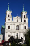 Old Catholic church in the Baroque style in Grodno, Belarus. Royalty Free Stock Images