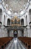Old catholic church interior Royalty Free Stock Images