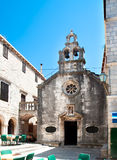 Old catholic church in Korcula Stock Photography