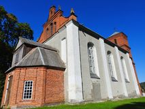Old red catholic church, Lithuania Royalty Free Stock Photos