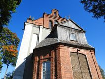 Old red catholic church, Lithuania Royalty Free Stock Photography