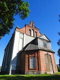 Old red catholic church, Lithuania Royalty Free Stock Image