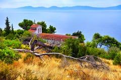 Old catholic church in Makarska. Makarska, Dalmatia, Croatia Royalty Free Stock Photo