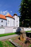 Old Catholic church and monastery in Croatia. Old Catholic church and Franciscan monastery in Croatian town Slavonski Brod Royalty Free Stock Images