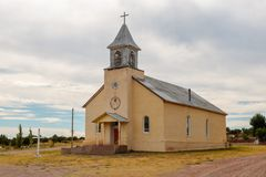 Old Catholic Church in New Mexico. An old adobe catholic church in Northern New Mexico stock images