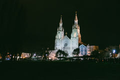 Old Catholic Church at Night SF Royalty Free Stock Images