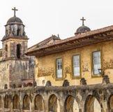 Old Catholic church in Patzcuaro Michoacan Mexico Stock Photo