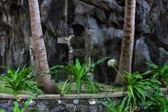Old Catholic crosses . Philippines. Palawan Island. Stock Images