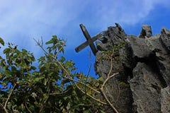 Old Catholic crosses . Philippines. Palawan Island. Royalty Free Stock Image