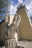 Old catholic mission church in Cerillos New Mexico Stock Image