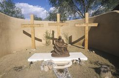Old catholic mission church in Cerillos New Mexico Royalty Free Stock Photo