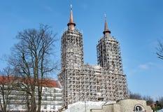 The old catholic monastery Saint Mary ( Maria Radna) under reconstruction Royalty Free Stock Photography
