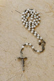 Old catholic rosary Stock Photography