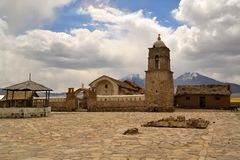 Free Old Catholic Stone Church In Sajama, Bolivia Stock Images - 50299654