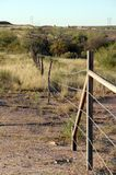 Old cattle fence in West Texas. An old cattle fence with barb wire in West Texas, USA stock image