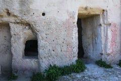Cave house. Matera. Basilicata. Apulia or Puglia. Italy. Old cave house. Matera. Basilicata. Apulia or Puglia . Italy stock photo