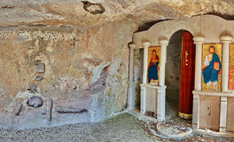 Old cave monastery royalty free stock images